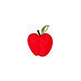 JKM Large Red Apple Applique Iron On 5120A