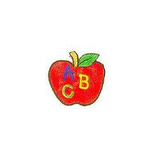 JKM ABC Apple Applique Iron On
