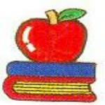 JKM Apple and Two Textbooks Applique (Stick On)