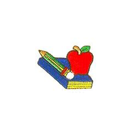 JKM Textbook & Apple and Pencil Applique Iron On