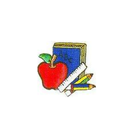 JKM Book & Apple and Supplies Applique Stick On