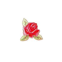 JKM Rose with 3 Leaves Applique Stick On