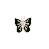 JKM Black/Silver Butterfly Front Applique Iron On