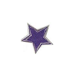 JKM Large Blue Star with Silver Outline Applique Stick On