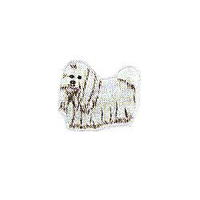JKM Long Haired Dog Applique Stick On