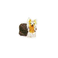 JKM Small Dog with Golden Face Applique Iron On