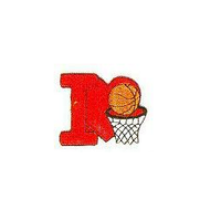 JKM Red I Love Basketball Applique Iron On