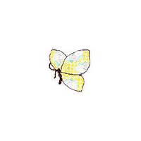 JKM Light Colored Butterfly Applique Stick On