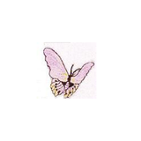 JKM Lavender Butterfly Applique Stick On