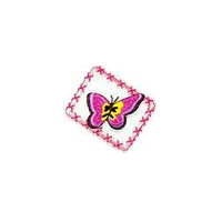 JKM Hot Pink Butterfly in Frame Applique Stick On