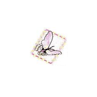 JKM Lavender Butterfly in Frame Applique Iron On