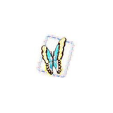 JKM Turquoise Butterfly in Frame Applique Iron On