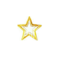 JKM Large Gold/Silver Star with Open Center Applique Stick On