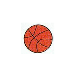 JKM Large Basketball Applique Stick On