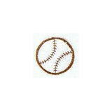 JKM Large Baseball Applique Stick On