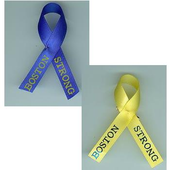 JKM Boston Strong Ribbon with Brass Pin