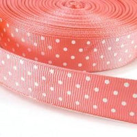 JKM Fashion Swiss Dot Grosgrain Ribbon - 7/8""