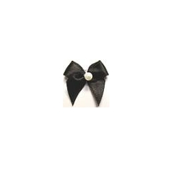 JKM Large Bow with Faux Pearl - 1 Width