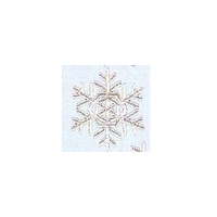 JKM Silver Snowflake Applique Stick On