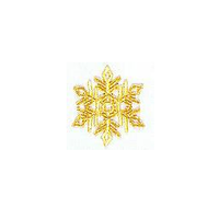 JKM Large Gold Snowflake Applique Iron On