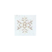 JKM Silver Snowflake Style II Applique Iron & Stick On