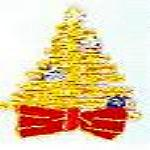 JKM Large Gold Christmas Tree Applique (Iron On)