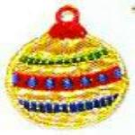 JKM Gold and Red Christmas Ornament Applique Stick On