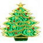JKM Large Christmas Tree Applique (Stick On)