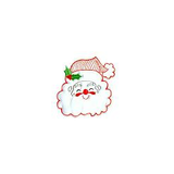 JKM White Santa Applique Stick On