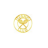 JKM Gold Tennis Club Applique Stick On