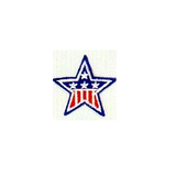 JKM Red & White and Blue Star Applique Iron On