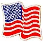 JKM Wavy American Flag Applique (Iron On)