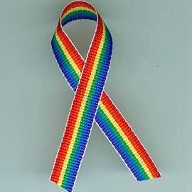 JKM Rainbow Ribbon Lapel Pin