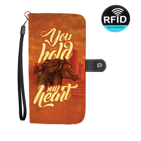 You Hold My Heart Wallet Phone Case