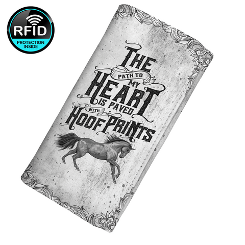 The Path To My Heart Is Paved With Hoof Prints Women's Clutch Purse Wallet