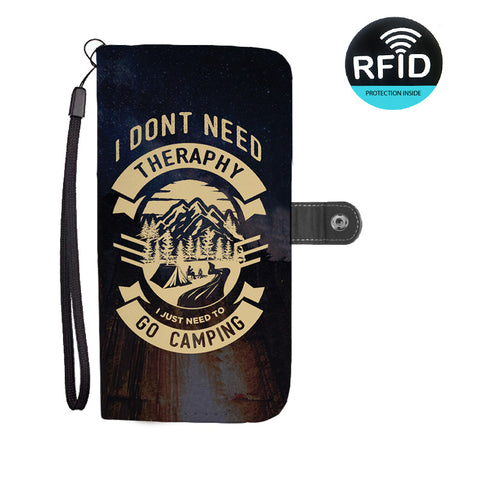 I Don't Need Therapy I Just Need to go to Camping Wallet Phone Case 2