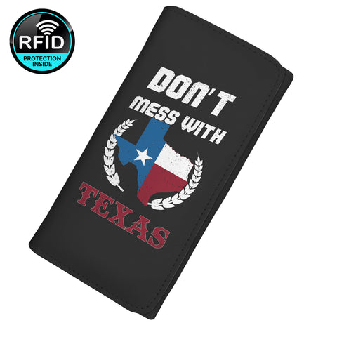 Don't Mess With Texas Women's Clutch Purse Wallet