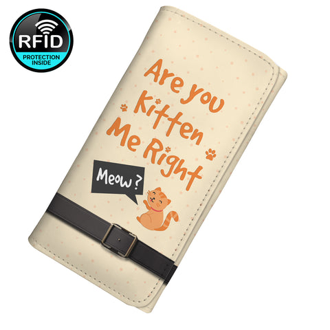 Are You Kitten Me Right Meow Women's Clutch Purse Wallet