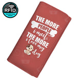 The More People I Meet The More I love My Dog Women's Clutch Purse Wallet