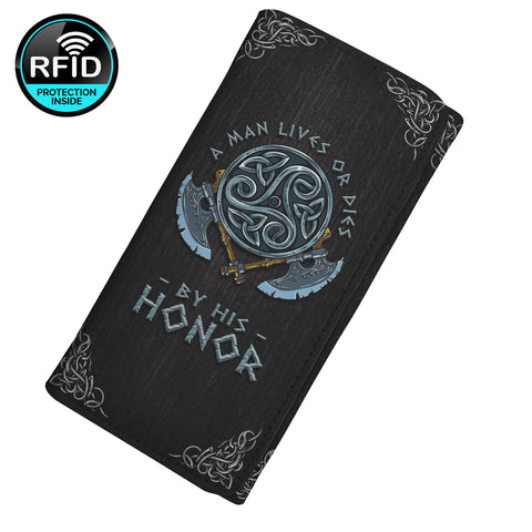A Man Live Or Dies By His Honor Women's Clutch Purse Wallet
