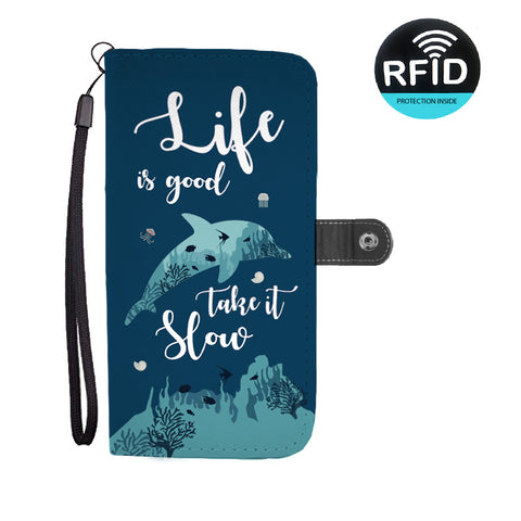 Life Is Good Take It Slow Wallet Phone Case
