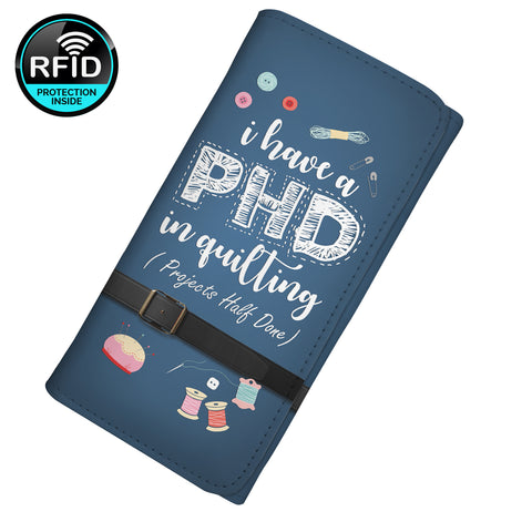 I Have A PHD In Quitting (Projects Half Done) Women's Clutch Purse Wallet