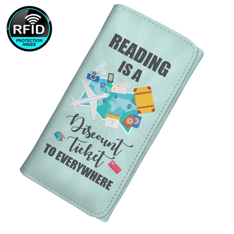 Reading Is A Discount Ticket To Everywhere  Women's Clutch Purse Wallet