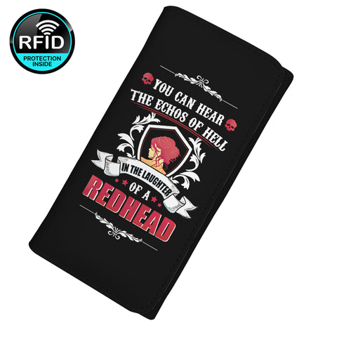 You Can Hear The Echos of Hell In The Laughter Of A Redhead Women's Clutch Purse Wallet