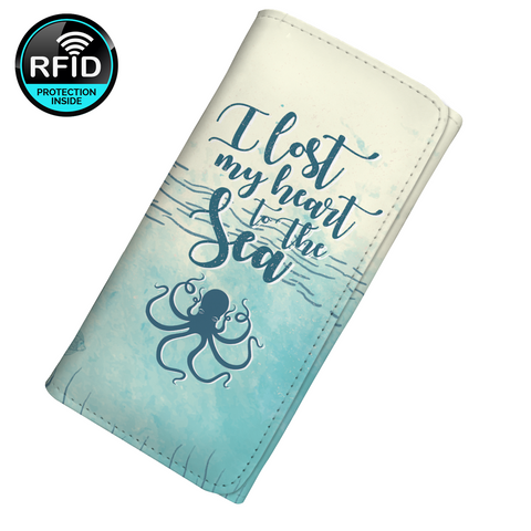 I Lost My Heart To The Sea Women's Clutch Purse Wallet