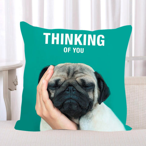 Pug Thinking of You Pillowcase Cover