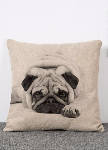 Pug Pillowcase Cover