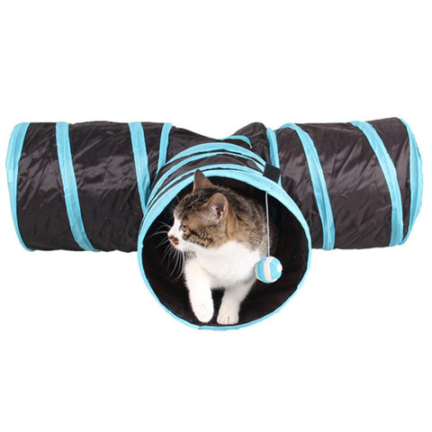 Foldable Pet Cat Tunnel Training Toy