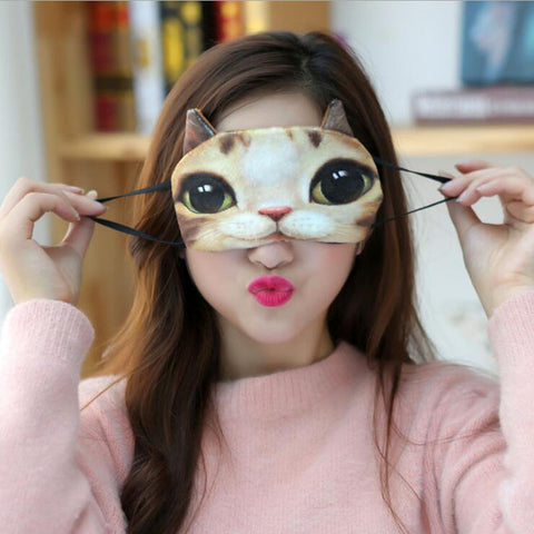 Cat Design Sleep Eye Mask