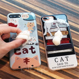 Lovely 3D Soft lazy cat iPhone Case